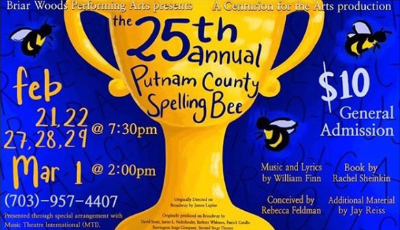 "Briar Woods Theatre Presents ""The 25th Annual Putnam County Spelling Bee"""